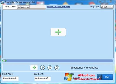 Screenshot Free Video Cutter for Windows 7