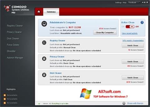 Screenshot Comodo System Utilities for Windows 7