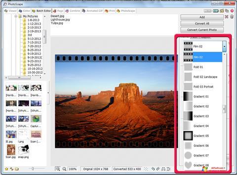 Screenshot PhotoScape for Windows 7