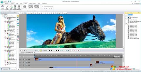 Screenshot VSDC Free Video Editor for Windows 7