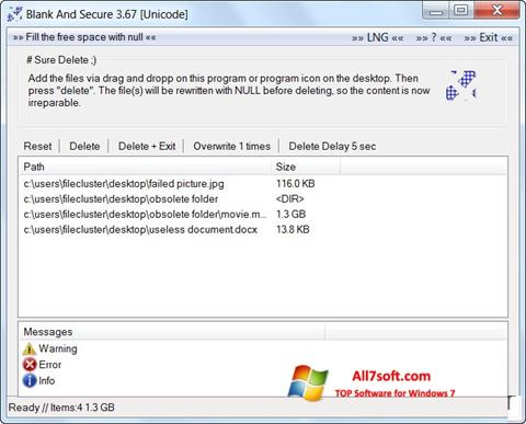 Screenshot Blank And Secure for Windows 7