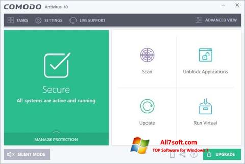 Screenshot Comodo Antivirus for Windows 7