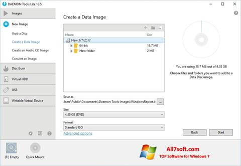 Screenshot DAEMON Tools Lite for Windows 7