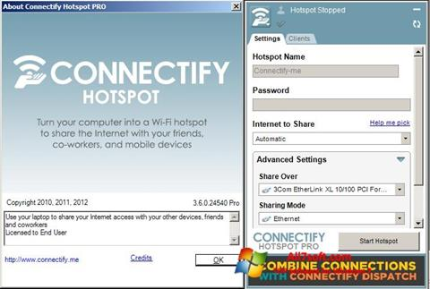 Screenshot Connectify for Windows 7